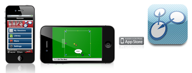 The iphone screen shot of the G.A.P.S Sports Coaching App