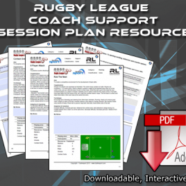 Rugby League Coach Support Session Plan Resource